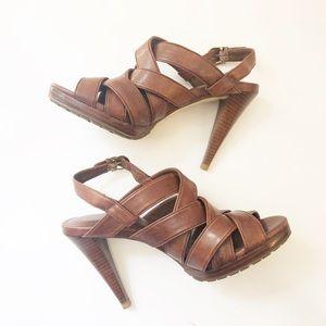 Cole Haan x Nike Air brown heels sandals